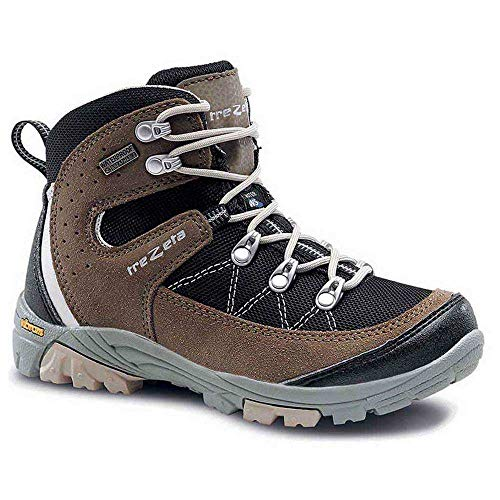 Trezeta Chaussures Treekking Cyclone WP JR Black Brown - - Noir/marron, 35 EU