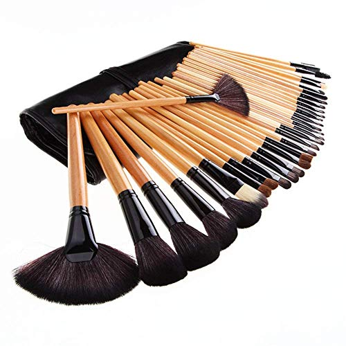TYWZJ Accessoires pour Outils de Maquillage de la Plus Haute qualité 32pcs Premium Professional Soft Cosmetic Sourcils Fard à paupières Maquillage Pinceau Pochette Sac Case-Clear Maquillage Outil