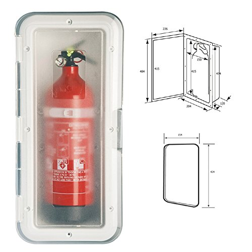 Box für Feuerlöscher bis 2 kg (ohne Feuerlöscher)