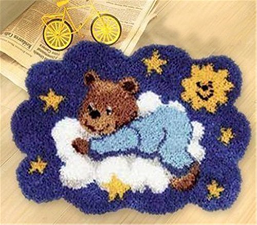 Beyond Your Thoughts DIY Latch Hook Kit rug Making Crafts for Kids/Adults 21 inch X 15 inch Bear002