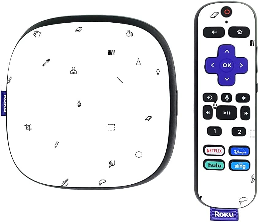 MightySkins Glossy Glitter Skin Compatible with Roku Ultra HDR 4K Streaming Media Player (2020) - Pixel Pattern | Protective, Durable High-Gloss Glitter Finish | Easy to Apply | Made in The USA