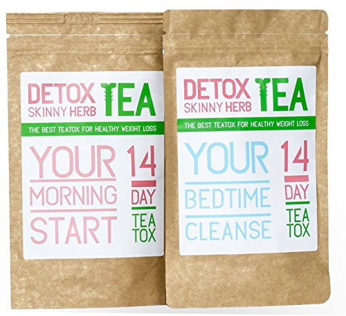 14 Days Teatox: Detox Skinny Herb Tea - Detox Skinny Herb Tea - Effective Detox Tea, Support Natural Weight Loss Tea, 100% NATURAL