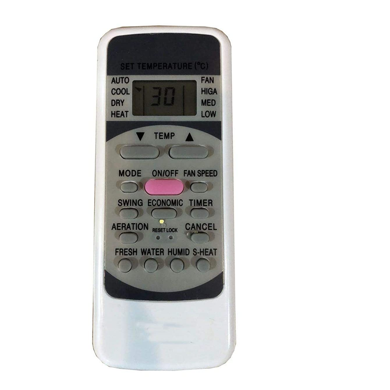 EREMOTE Easy Replacement Remote Control Fit for klimaire KSWM018-C213 KSWM024-C213 KSWM009-H113 KSIN009-H215 KSIN012-H215 AC A/C Air Conditioner