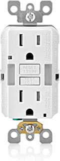 Leviton GFNL1-W R02-Gfnl1-00W Self-Test Tamper Duplex Gfci Receptacle With Guide Light, 125 V, 15 Amp, White