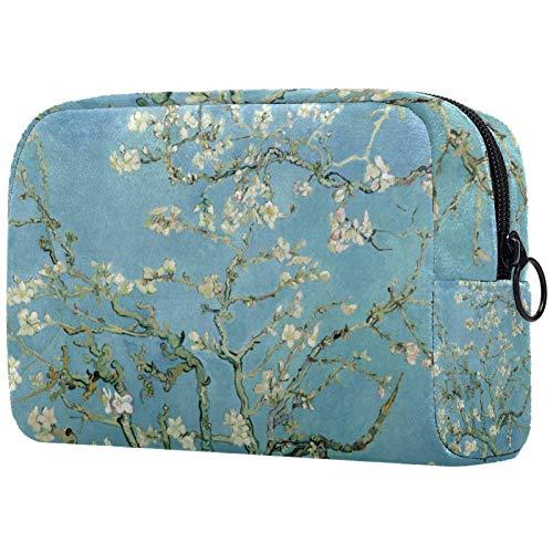 Kosmetische Reisetasche, Schminktasche, Schminktasche, Geburtstagsgeschenk, Jubiläumsgeschenk - Blühender Mandelbaum