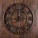 ETH Europeo Y Americano Retro Número Romano Reloj De Pared Hogar Sala De Estar...