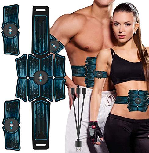 LXYDD EMS Bauchmuskeltrainer Elektronische Muskelstimulation Muskelstimulator USB Wiederaufladbar Elektromuskelstimulation Trainingsgerät für Herren Damen zur Muskelaufbau