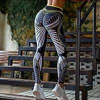 CHUNMA SVOKOR女性レギンスセクシーなハイウエストスリム印刷レギンスジムの高いストレッチ通気性パンツの女性 (色 : グレー, サイズ : L)