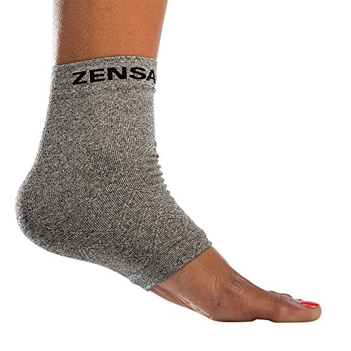 Zensah Ankle Support - Compression Ankle Sleeve, Lightweight Ankle Brace, Relieve Plantar Fasciitis...