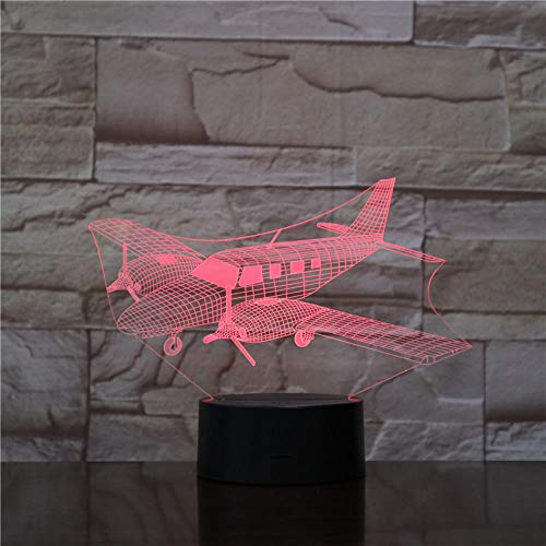 Nachtlampje Vliegtuig Vertrek-afstandsbediening Nachtlampje 7 Kleuren Optische Touch Foto Tafel Decoratie Lamp, Slaapkamer Bar Sfeerlamp