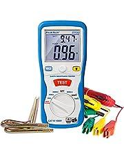 PeakTech P 2700 2700 - digitale aardingsmeter met verlicht dubbel LCD-display en 2 aardingsstaven, bodemweerstand, meting, AC/DC, data-hold, automatische nulstand - CAT III 1000 V