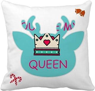 OFFbb-USA My Queen Royal Regina Majesty Christmas - Funda cuadrada para almohada