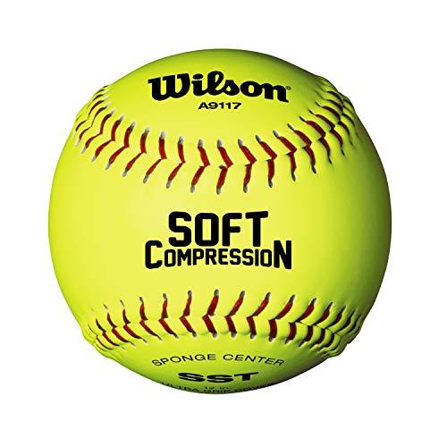 Wilson WTA9117T Pelota de Sóftbol, Scb Softball, Cubierta Ultra Grip, Amarilla