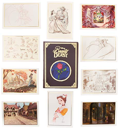 Enesco Walt Disney Archives Beauty and The Beast Gift Boxed Notecard Set, Multicolor