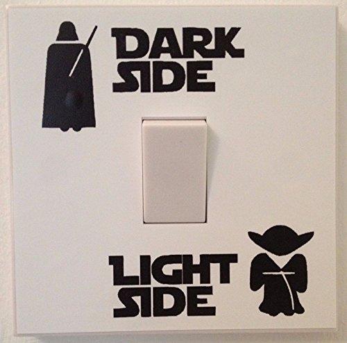 Star Wars - Adesivo in vinile per camera da letto, rimovibile, colore: Nero