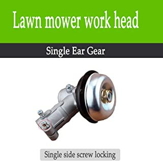 KOLODOGO Lawn Mower Gear Head, Universal Accessories for Lawn Mower Brush Cutter Strimmer Grass Trimmer Gearbox(Single Head Fixed)