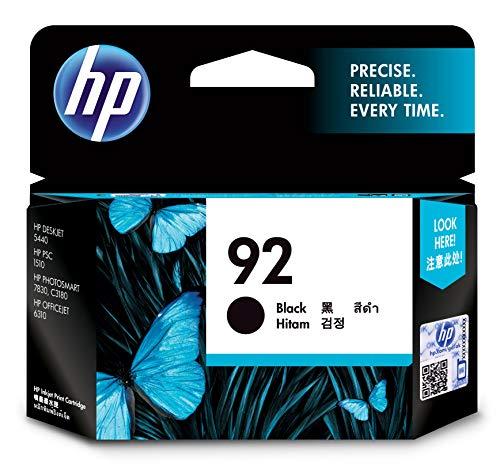 HP 92 Original Negro 1 pieza(s) - Cartucho de tinta para impresoras (Original, Tinta a base de...