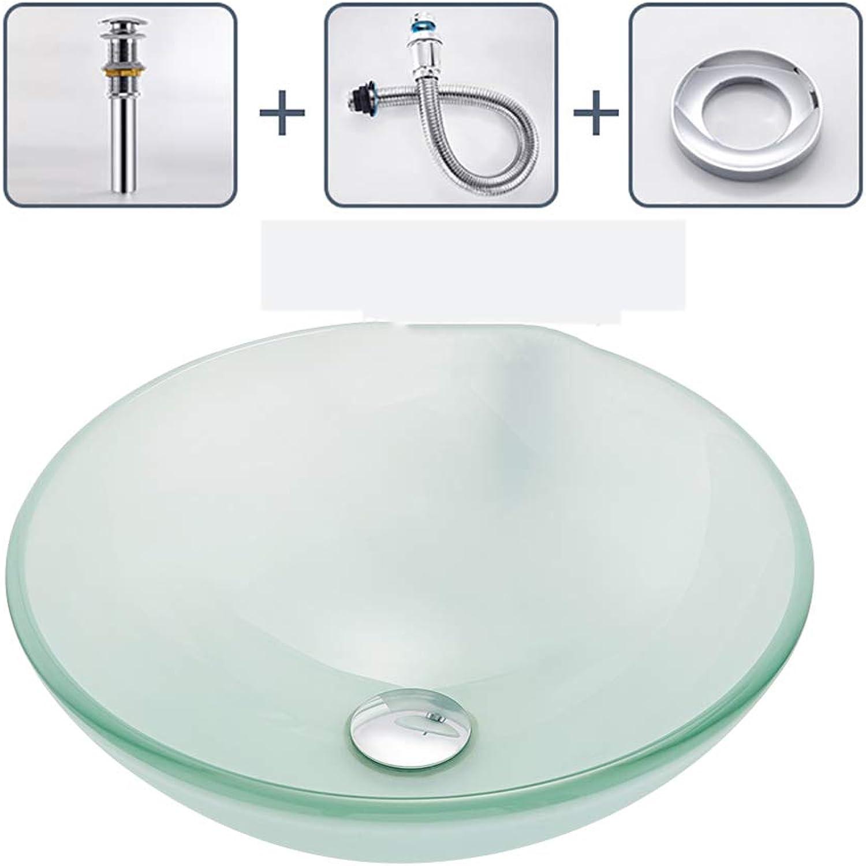Pn&cc Waschbecken Aus Gehrtetem Glas, Schrubben Recycelbar Bio-Frei Umweltschutz Waschbecken Container Sanitrkeramik Badezimmer
