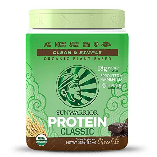 SUNWARRIOR Classic Rice Protein Chocolate, 375 g