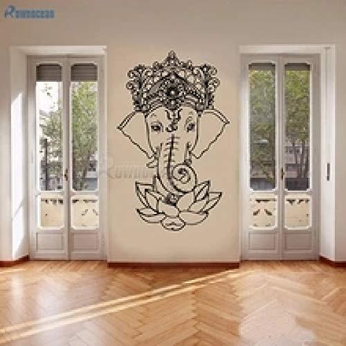 Shentop Elefante Buda Yoga Mandala Flor de Loto Pegatinas de Pared Ganesha Vinilo...