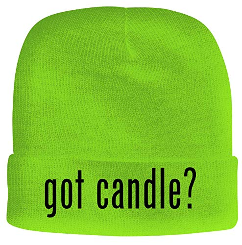 BH Cool Designs got Candle? - Men's Soft & Comfortable Beanie Hat Cap, Neon Green, One Size