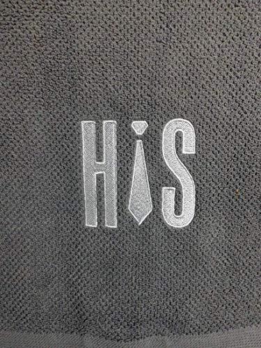 Handtuch bestickt mit HIS Motiv Krawatte Frotteetuch Geschenk - Hochwertige Qualität