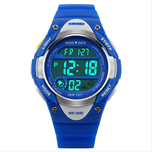 Boy Sports Watch waterdichte elektronische klok multifunctioneel - LED nachtlamp/wekker/timer