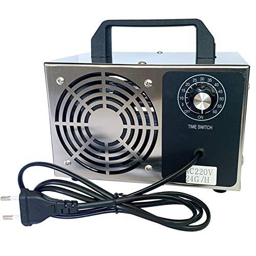 XUANQING 24 g/h 10 g/h generador de O3 ozono, un Filtro de Aire purificador de Aire desodorizar esterilizadores, con un Interruptor de Tiempo (Color : 24G)