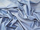Minerva Crafts Chambray Denim-Stoff, Blau, Meterware