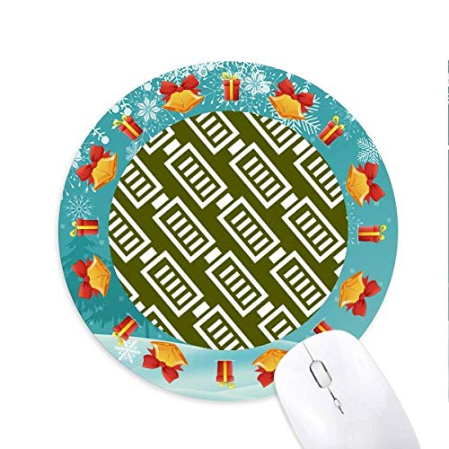 Battery Endurance Energy Stamp Muster Mousepad Rund Gummi Maus Pad Weihnachtsgeschenk