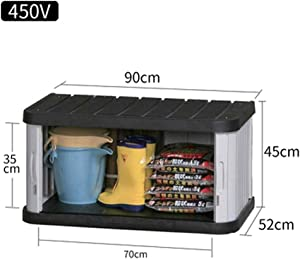 Deck Storage Box Outdoor Lockable Storage Locker Outdoor Garden Balcony Tool Cabinet Sliding Doors Assembly Required Waterproof for Home for Patio, Garage, Backyard (Color : Gray, Size : 600V)