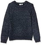 NAME IT Mädchen Nkflilba Ls Knit Pullover, Blau (Dark Sapphire Dark Sapphire), (Herstellergröße: 116)