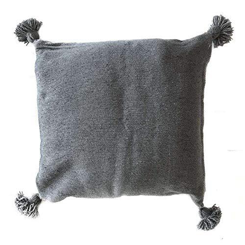 ZH ZocoHome Pompom Cushion Cover | Grey 50cm