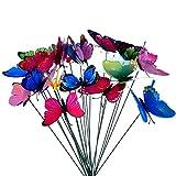24 Piezas Mariposas Libélulas Coloridas de Jardín Adornos de...