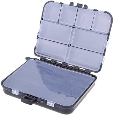 Tekijun Fishing Lure Bait Tackle Waterproof Storage Box Case with 26 Compartments
