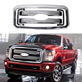 Front Mesh Grille Covers Compatible With 2011-2016 F250 F350 Super Duty Chrome Grill Covers