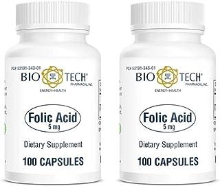 Folic Acid 100 Capsules (2 pack)