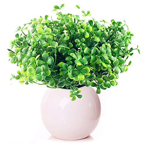 JUSTDOLIFE Artificial Plants Outdoor, Artificial Leaves,Artificial Fern Plant,Decorative Artificial Plants,for Indoor Outdoor Home Garden Porch Window Box Decoration