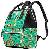 WJJSXKA Mochilas Bolsa de pañales Laptop Notebook Mochila de viaje Senderismo Daypack para Mujeres Hombres - Vector de patrones sin fisuras