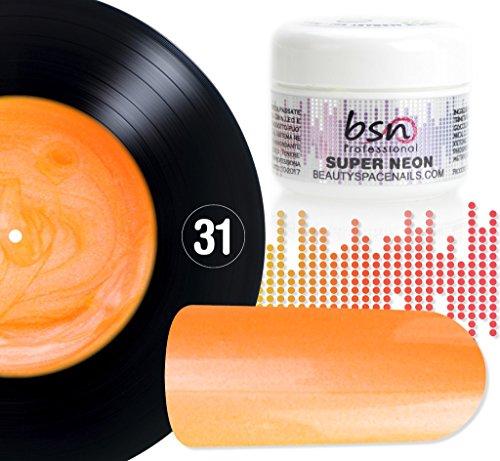 Beauty Space nails Super Neon - 31 Strong Orange Fluo Pearl - Gel UV coloré 5 ML
