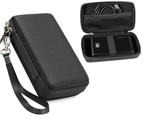 CaseSack Instant Printer Case for Kodak Mini 2 HD Wireles, Mini Mobile Wi-Fi & NFC Printer, Pickit M2, SereneLife 2x3 Instant Porter Printer, Mesh Pocket for Photo Paper and Cable (Black)