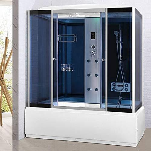 Bagno Italia Box idromassaggio cabina doccia e vasca 6 idrogetti cm 170x85 luci led ozonoterapia bluetooth
