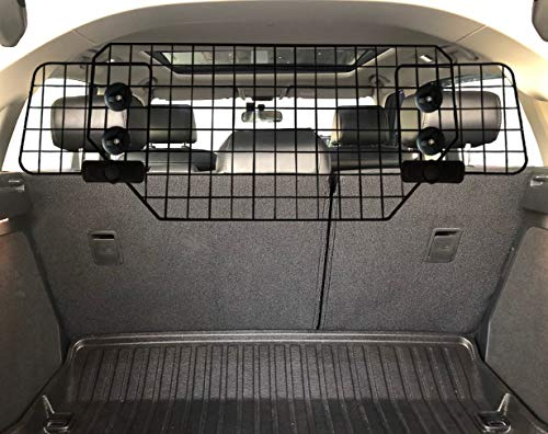 UCAS Heavy-Duty Dog Barrier, Adjustable to Fit Cars, SUVs, and Vehicles, Smooth Designed Pet Wire Barriers (Black)
