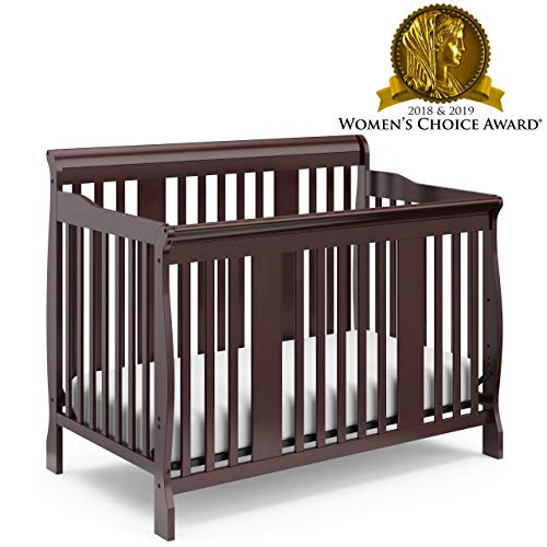 Read About Storkcraft Tuscany 4-in-1 Convertible Crib, Espresso Easily Converts to Toddler Bed, Day ...