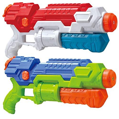 JOYIN 2 Pack Pistolas de Agua para Niños Pistola de Chorro de Agua Adultos 739ml Super Soaker Guns Juguetes de Verano para Piscina de Playa