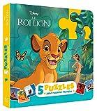 LE ROI LION - Mon Petit Livre Puzzle - 5 puzzles 9 pièces - Disney