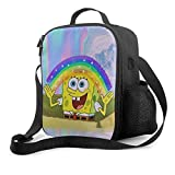 Lunch Bag Insulated Lunch Box Spongebob Aesthetic Tote Bag Cooler Bag Meal Prep Containers For Women Men Adults
