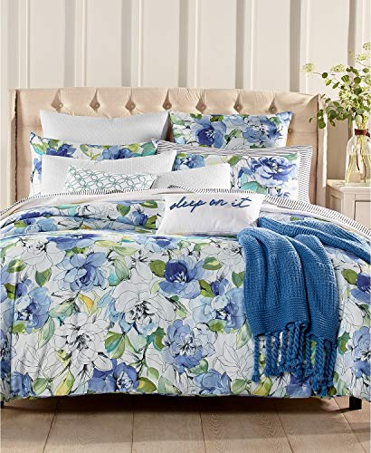Charter Club Damask Designs Sketch Floral Cotton 3 Piece Full / Queen Comforter Set Multi