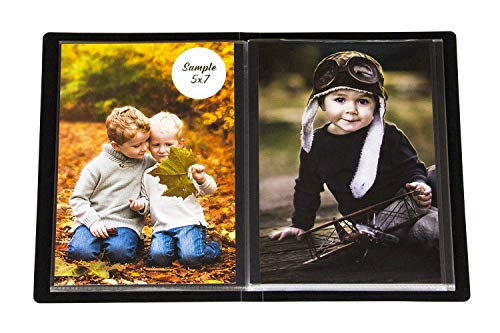 2PO Compact Portfolio Photo Album Holds 48 Pictures - 5x7 Inch/Space Saver Album