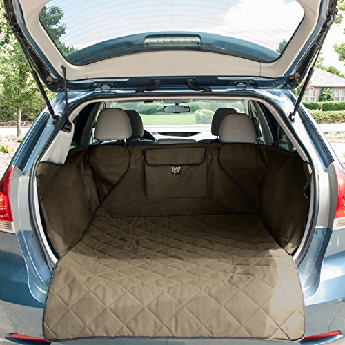 FrontPet Quilted Dog Cargo Cover for SUV, Universal Fit for Any Animal, Durable Liner Covers to Protect Your Vehicle, Tan